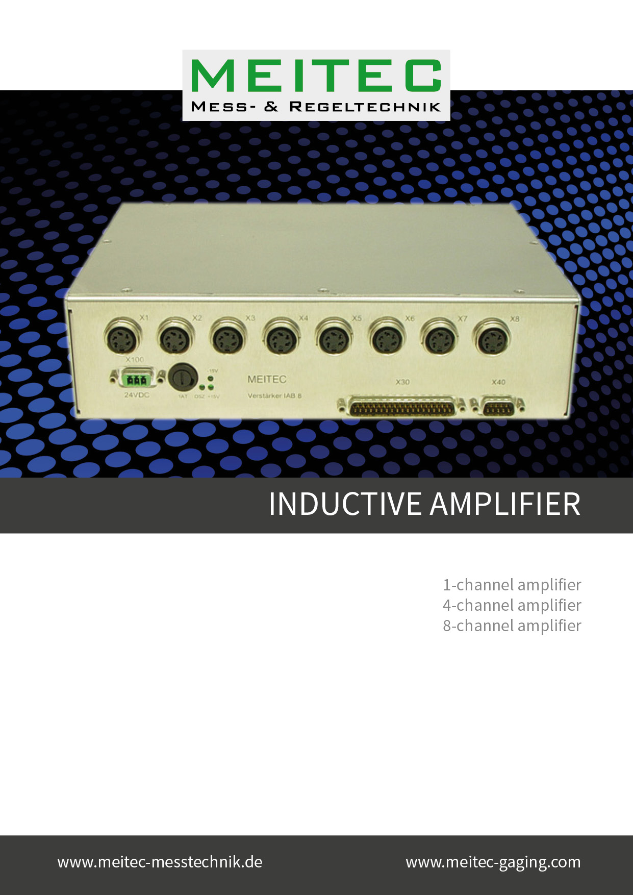 Product sheet inductive amplifier